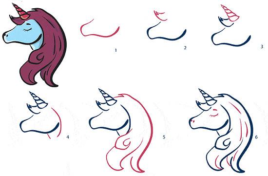 Рисунки карандашом голова единорога (20 фото) 🔥 Прикольные ...