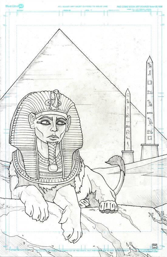 египет рисунок карандашом модные