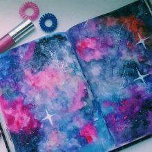Милые рисунки для срисовки зверюшки космос (29 фото)