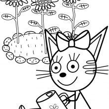 Рисунки для срисовки Три кота (27 фото)