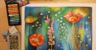 Рисунки для срисовки сухой пастелью (34 фото)