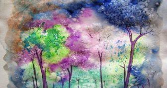 Рисунки для срисовки красками для начинающих (33 фото)