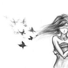 Грустные черно-белые рисунки для срисовки (27 фото)