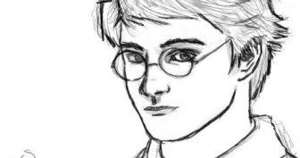 Рисунки для срисовки в скетчбук Гарри Поттер (19 фото)