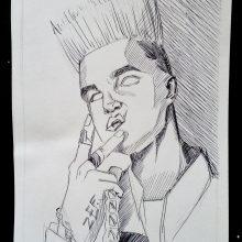 Рисунки Элджея карандашом для срисовки (8 фото)