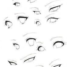 Рисунки карандашом глаза аниме (15 фото)