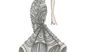Рисунки модных платьев карандашом (59 фото)