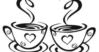 Рисунки карандашом чашка кофе (53 фото)