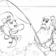 Рисунки карандашом рыбак (16 фото)