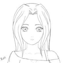 Рисунки девочек с большими глазами для срисовки (35 фото)