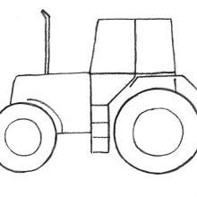Рисунки карандашом для детей трактор (28 фото)