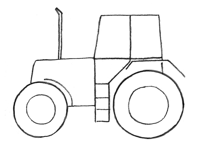 Трактор картинки карандашом