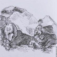 Рисунки камней карандашом (17 фото)