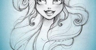 Легкие рисунки для срисовки принцессы (33 фото)