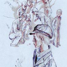 Рисунки к рассказу «Уроки французского» карандашом (16 фото)