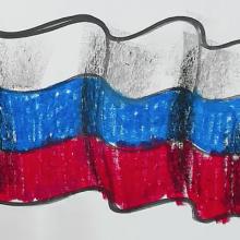 Рисунки карандашом флаг России (8 фото)