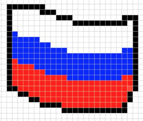 картинки по клеточкам флаги стран
