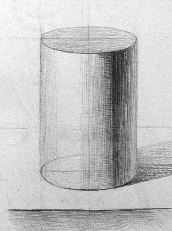 как нарисовать шар с тенью карандашом