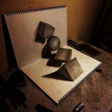 Рисунки для срисовки оптические иллюзии (29 фото)