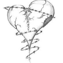 Рисунки для срисовки разбитое сердце (55 фото)