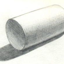 Рисунки цилиндра карандашом с тенью со штриховкой (15 фото)