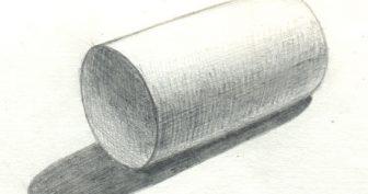 Рисунки цилиндра карандашом с тенью со штриховкой (45 фото)