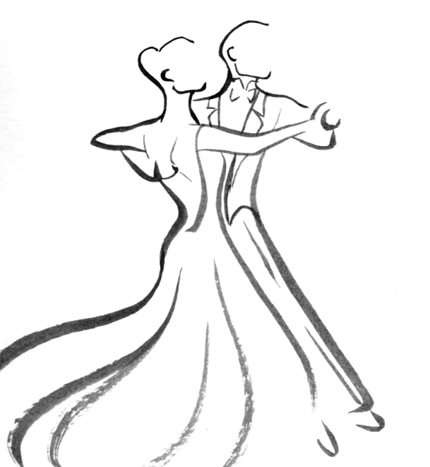 многоцветные картинки бальных танцев карандашом интересные моменты