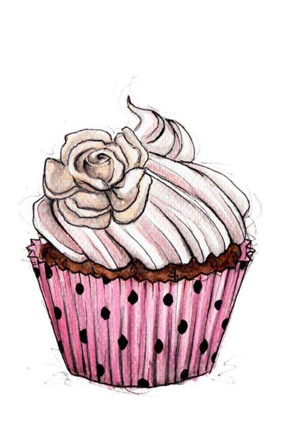 Срисовать картинки кексы