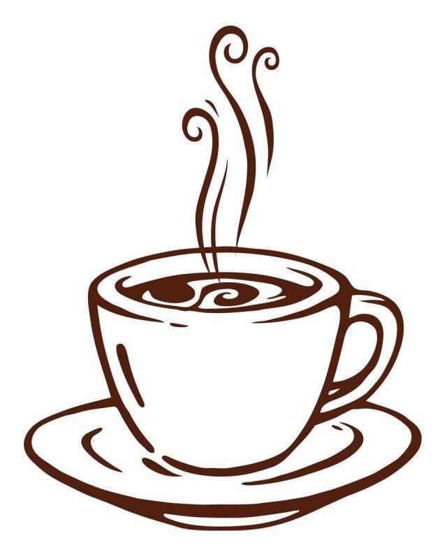 рисунки чашка кофе карандашом фото клематиса