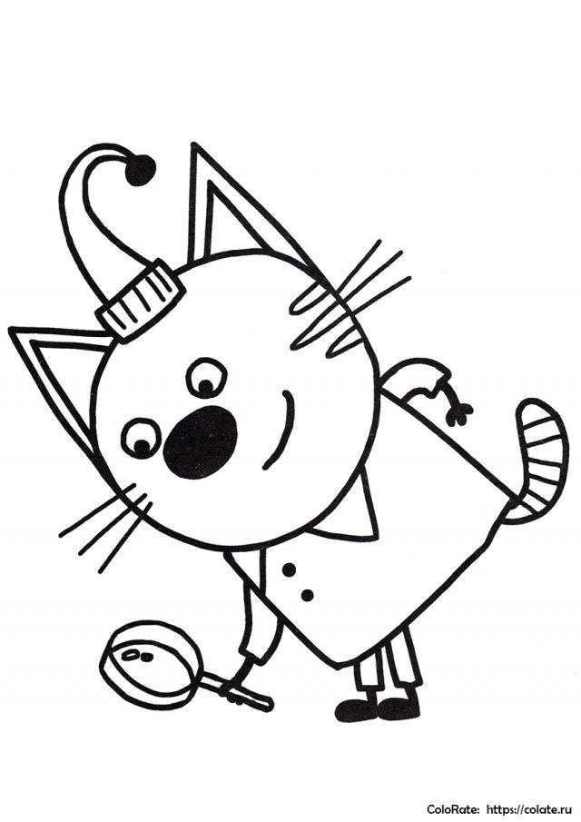 Рисунки для срисовки Три кота (27 фото) 🔥 Прикольные ...