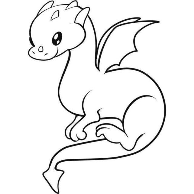 Кавайные рисунки для срисовки драконы (32 фото ...