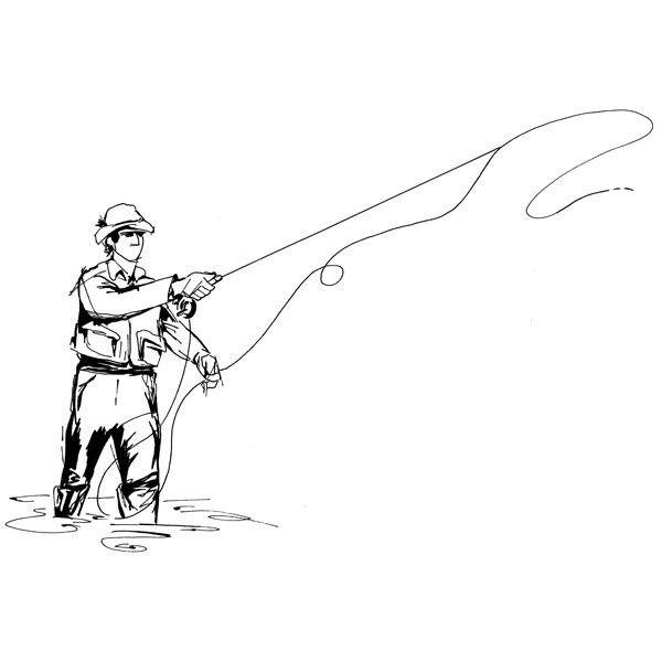 кажется, картинка карандаш рыбалка сможет порадовать