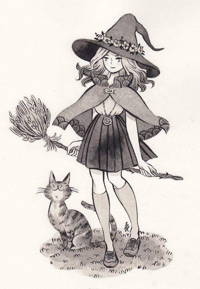 чтобы ведьмочки рисунки карандашом имеет значения