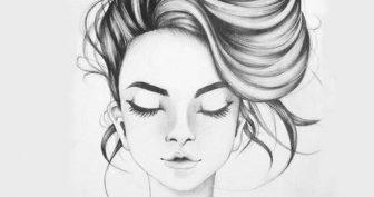 Рисунки карандашом девушки с закрытыми глазами (16 фото)