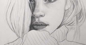 Рисунки лица девушек карандашом для срисовки (31 фото)