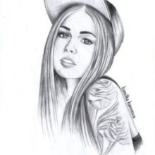 Рисунки для срисовки девочек с длинными волосами (31 фото)