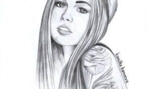 Рисунки для срисовки девочек с длинными волосами (61 фото)
