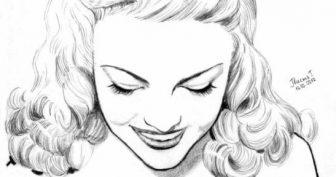 Рисунки для срисовки девушки блондинки (26 фото)