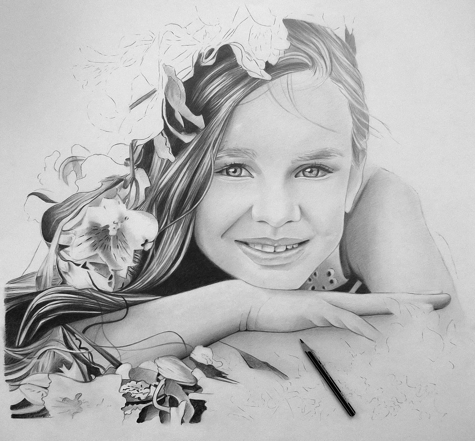 Красивые картинки девушек карандашом фото