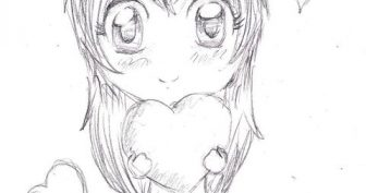 Мини рисунки аниме карандашом (31 фото)