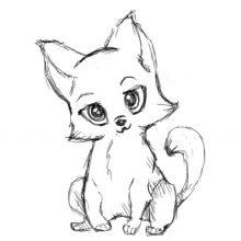 Рисунки для срисовки карандашом милашки (21 фото)