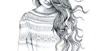 Рисунки для срисовки крутые девчонки (33 фото)