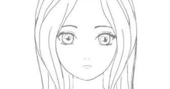 Рисунки девочек с большими глазами для срисовки (23 фото)