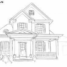 Рисунки для срисовки дома (59 фото)