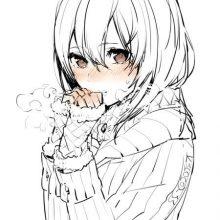 Рисунки для срисовки девушки в стиле аниме (31 фото)