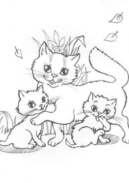 Рисунки кошки карандашом для детей (33 фото) 🔥 Прикольные ...
