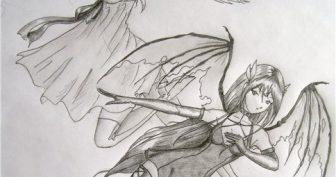 Рисунки карандашом Ангелы и Демоны (28 фото)