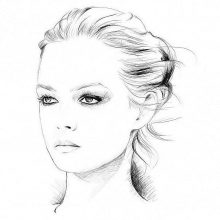 Рисунки для срисовки люди карандашом для начинающих (28 фото)