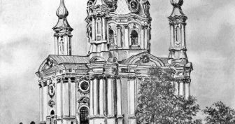 Рисунки зданий карандашом для срисовки (33 фото)