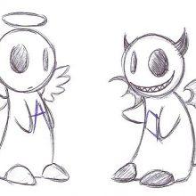 Рисунки карандашом легкие аниме дьяволы (14 фото)